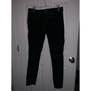 Loft Velvet Black Straight Leg Pants - Size 28